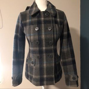 American Eagle Outfitters wool blend short peacoat